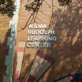 Wilma Rudolph Learning Center (Hope Academy, Chicago); Dimensional Letters