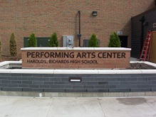 Performing Arts Center (Harold L. Richards High School); Dimensional Letters