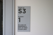 University of Chicago; Stair/Floor Identification Signs