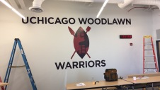 Woodlawn Charter School (University of Chicago); Vinyl Wall Graphic and Letters