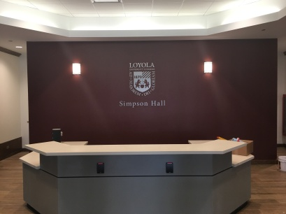 Simpson Hall (Loyola University); Dimensional Letters and Logo