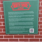 North Shore Line; Exterior Information Plaque (Evanston, IL)