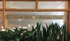 Susan Barney Atrium Cafe (North Shore University Health System); Dimensional letters