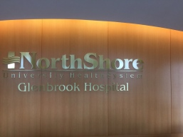Northshore University Health System (Glenbrook Hospital); Dimensional Letters and Logo