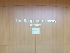 Rappeport Atrium (Northshore University Health System); Dimensional Letters and plaque