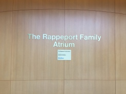 Rappeport Atrium (Northshore University Health System); Dimensional Letters and plaque