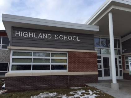 Highland School; Dimensional Letters