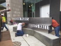 Gordon Parks Arts Hall (University of Chicago); Exterior-Front-Lit Sign