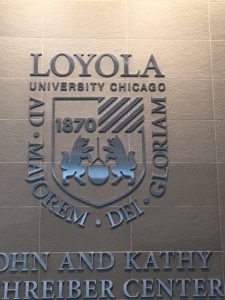 Schreiber Center (Loyola University); Dimensional Letters and Logo