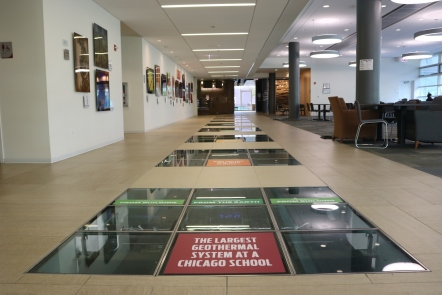 Loyola University (Chicago, IL); Innovative Environmental Stability Building vinyl floor tiles