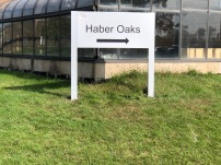 Haber Oaks Directional Sign