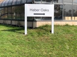 Haber Oaks Directional Sign