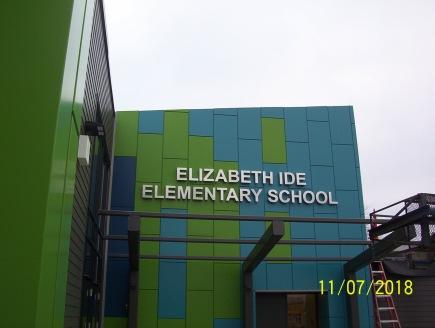 Elizabeth Ide Elementary School (Darien, IL); Back-lit, dimensional letters