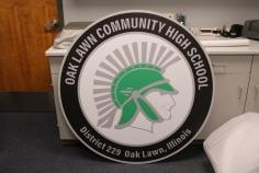 """Oak Lawn High School (Oak Lawn, IL): High-end Digital Print on 1/2"""" Acrylic"""