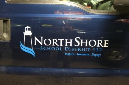 NSSD 112 (Highland Park, IL); Exterior Grade Vinyl Logo