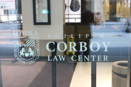 Corboy Law Center (Loyola University); Second Surface Applied Vinyl