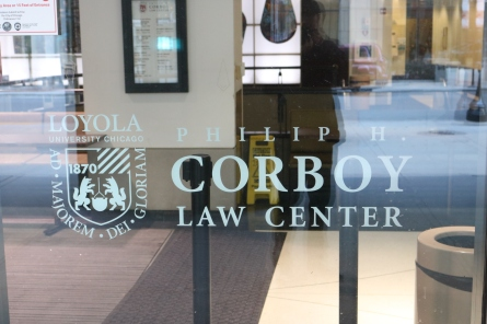 Corboy Law Center (Loyola University); Second Surface Applied Vinyl