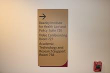 Beazley Institute (Loyola University); Wayfinding Signage