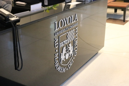 Corboy Law Center (Loyola University); Aluminum Dimensional Letters and Logo