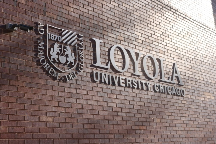 Downtown Campus (Loyola University); Exterior Grade, Stainless Steel, Dimensional Letters and Logo