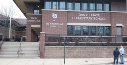 Oak Terrace Elementary School (Highland Park, IL); Clear Anodized Aluminum Letters with Etched Aluminum Logo Plaque