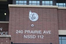 Oak Terrace Elementary School (Highland Park, IL); Clear Anodized Aluminum Letters with Etched Aluminum Logo Plaque