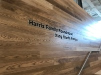 "Harris School (University of Chicago); Laser Etched Imaging on a one inch thick plank (8""h x 4'w)"