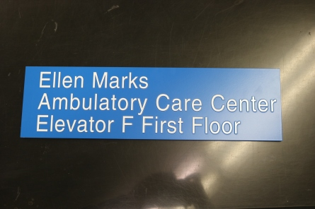 NorthShore University HealthSystem (Highland Park, IL); Tactile Directional Sign