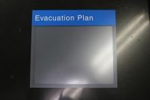 NorthShore University HealthSystem (Glenbrook, IL); 8.5x11 Evacuation Plan Holder with Tactile Header