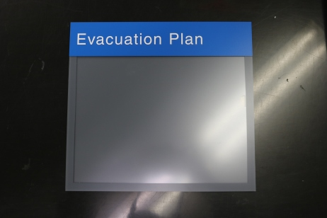 NorthShore University HealthSystem (Glenbrook, IL); 8.5x11 Evacuation Plan Holder with Tactile Header