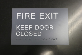 NorthShore University HealthSystem (Northbrook, IL); ADA Tactile and Braille Fire Exit Sign