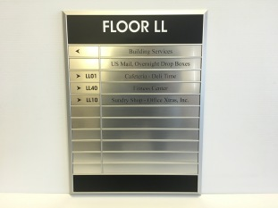 Lobby directory with interchangeable inserts