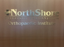 NorthShore University HealthSystem (Lincolnshire, IL); Brass Dimensional Letters and Logo