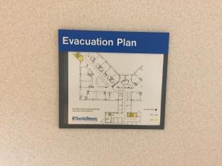 Highland Park Hospital (Evacuation Plan Holder); Tactile Evacuation Plan Holder