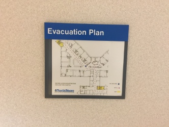Highland Park Hospital (Evacuation Plan Holder); Tactile Evacuation Plan Holder