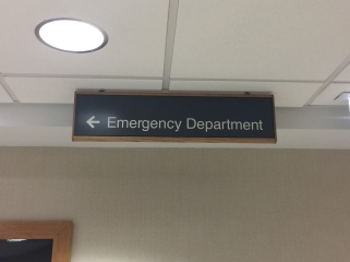 Highland Park Hospital (Emergency Deparment); Hanging Directional Sign