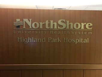 NorthShore University HealthSystem (Highalnd Park, IL); Brass Dimensional Letters and Logo