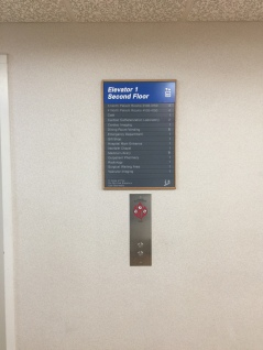 Northshore University HealthSystem Directory (Highland Park, IL); Directory sign with slide in floor locations