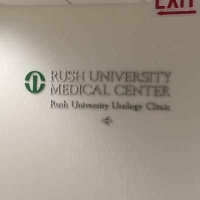 Rush University Medical Center (Chicago, IL); Stainless Steel Dimensional Letters and Logo