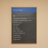 NorthShore University HealthSystem (Skokie, IL); First Floor Directory with Wood Frame
