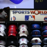 SportsWorldChicago (Chicago, IL); Removable Hat Tags with High-Performance Vinyl Letters/Logos + 3M Velcro Backing