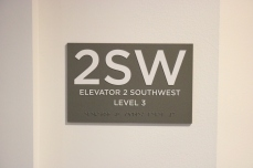 University of Chicago (Chicago, IL); ADA Tactile and Braille Elevator Sign
