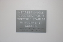 University of Chicago (Chicago, IL); ADA Tactile and Braille Information Sign