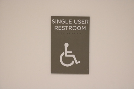 University of Chicago (Chicago, IL); ADA Tactile and Braille Single User Restroom Sign