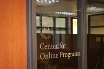 Loyola University (Chicago, IL); Loyola Center for Online Programs + Logo Vinyl letters