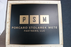 PSM (Chicago, IL); 22x18 Cast Bronze Plaque + Single Line Border