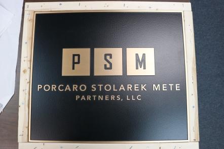 PSM (Chicago, IL); 22x18 Cast Bronze Plaque + Single Line Border