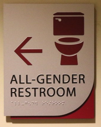 Loyola University (Chicago, IL); ADA Tactile & Braille Compliant All-Gender Restroom Sign