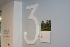 """University of Chicago (Chicago, IL); 1"""" thick Acrylic Dimensional Number with Dichromate Lighting"""