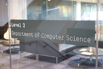 Department of Computer Science (University of Chicago); High-performance white vinyl applied second surface with blackout backer